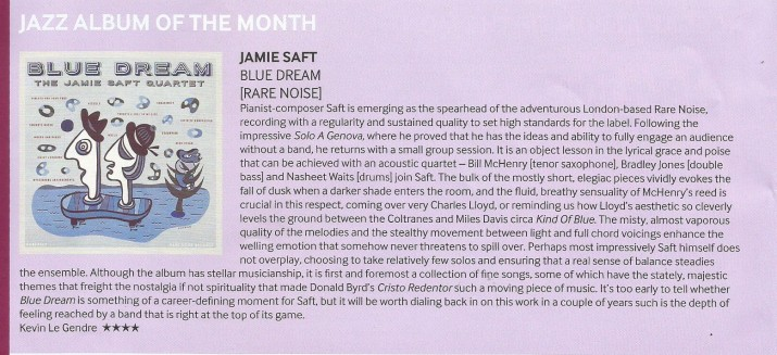 Jamie Saft Blue Dream album review Echoes magazine